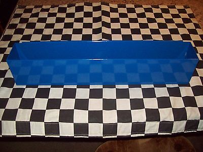 """16"""" COBALT BLUE TOOL BOX AEROSOL SPRAY CAN HOLDER snap 2 use- hang on side PAINT"""