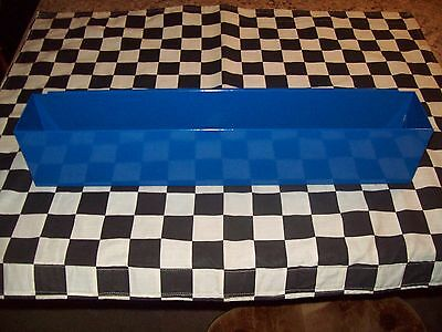 """20"""" COBALT BLUE TOOL BOX AEROSOL SPRAY CAN HOLDER snap 2 use- hang on side PAINT"""