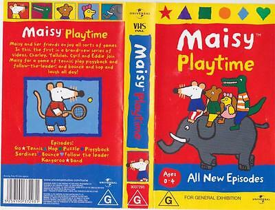 Maisy Playtime  Vhs Video Pal~ A Rare Find In Excellent Condition