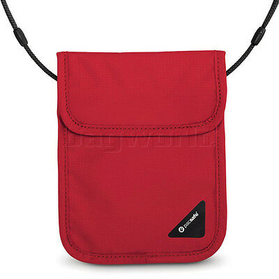 Pacsafe Coversafe X75 Anti-Theft RFID Blocking Neck Pouch Chilli 10148