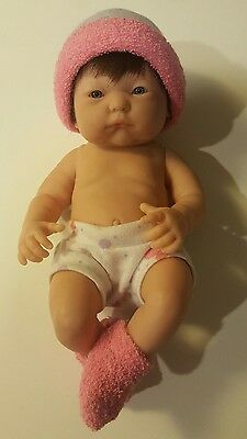 "Berenguer Baby Doll 9"" brown hair nonsexed full vinyl body"