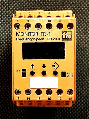 New IFM Ecomat 200 DD2001 Frequency Speed Monitor FR-1