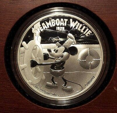 2014 Niue $2 Pure Silver Coin: Steamboat Willie Silver Coin SOLD OUT, RARE