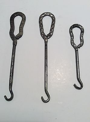 (1) Lot Of 3 Antique Shoe Button Hooks, 1 Marked Gotzian Shoes And 2 Un-marked