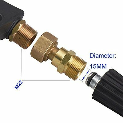 Water Gun Hose Swivel Joint Fitting Anti Twist Brass Pressure Power Washer Hoses