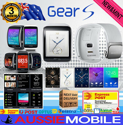 Good condition Samsung Galaxy Gear S Smart watch WHITE color Unlocked