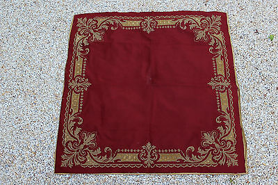 Antique French Velvet Table Carpet (Curtains, Tapestry, Drapes) Ca 1880, N1