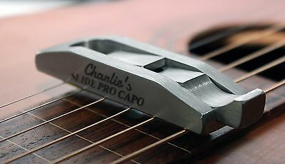 New Charlie's Slide Pro Weissenborn Guitar Capo Made In Usa