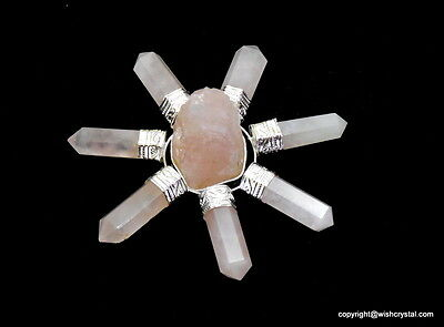 7 Chakra Rose Quartz Rough Natural Energy Generator ~ Crystal Healing Points