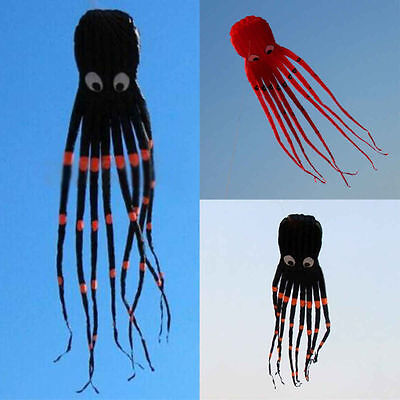 HOT8m 26ft Red 1 Line Stunt Fabric Octopus Kite Outdoor Toy Children's Best Gift