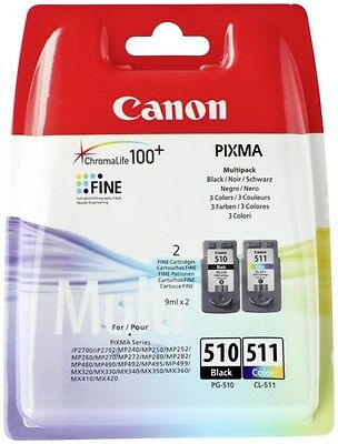 Canon PG 510 CL 511 original cartucce inchiostro PIXMA MP492 MP495 MP499 MX320