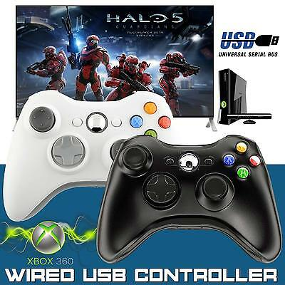 New Wired Xbox 360 USB Controller GamePad For Microsoft Xbox Laptop PC UK