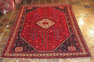 70's / HANDKNOTED  PERSIAN CARPET RUG RUNNER 100% WOOL 296x203 THICK PILE