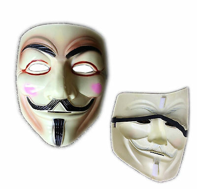 V for Vendetta Mask Guy Fawkes Anonymous Hackers Face Masks Halloween