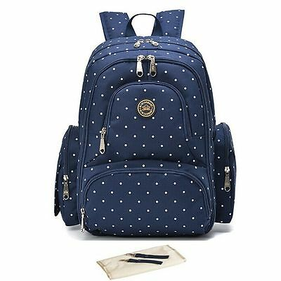 Nappy Mummy Backpack Mother Diaper Bags Baby Newborn Pad Changing Bag EU