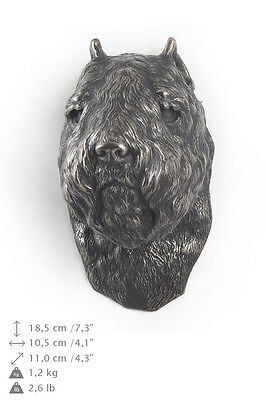 Bouvier des Flandres dog statuette to hang on the wall, Art Dog , CA