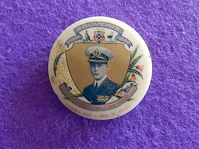1920 Vintage Tin Badge -  H.r.h. The Prince Of Wales Australian Tour. Adelaide