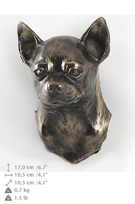 CHIHUAHUA dog statuette to hang on the wall, Art Dog , CA