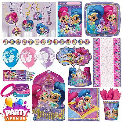 Shimmer & Shine Party Birthday Party Decorations Tableware Favours Balloon