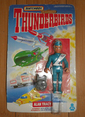 Matchbox Thunderbirds Alan Tracy Figure Mint On Card Vintage 1992  (330)