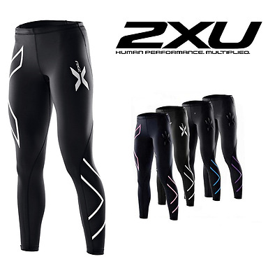 2XU Women Compression Tights Base Layer Running Yoga Fitness Pants Cross Fit Hot