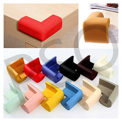 4x Table Corner Edge Protector Guard Toddler Child Safety Soft Rubber Square
