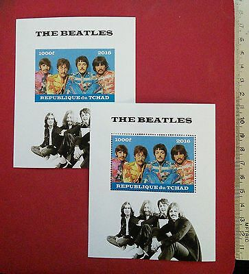 the BEATLES 2016 CHAD Legend of British Rock Band Collectable stamps newMNH GIFT