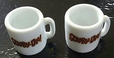 Lot of 2 Miniature Scooby Doo Ceramic Mugs The Gang Scooby Hanna Barbera