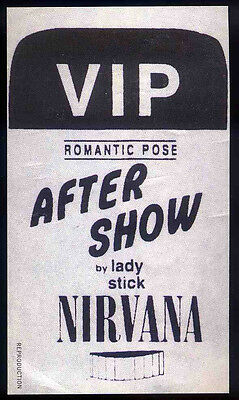 Nirvana Repro Backstage Pass Concert Sticker . Nevermind
