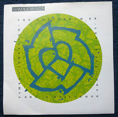 """SIMPLE MINDS 2 x 7"""" singles The Amsterdam E.P. + Real Life [1989/91]"""