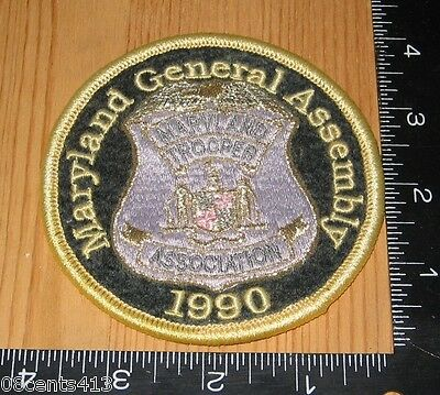 Maryland General Assembly Trooper Association 1990 Cloth Patch Only