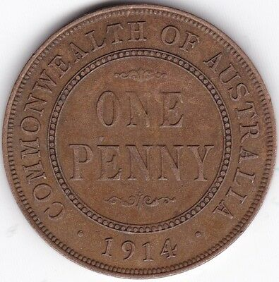 1914 Australia George V Penny***Collectors***