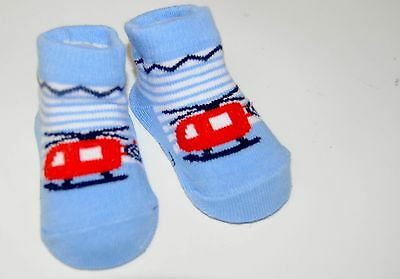 Baby Socks Soft Touch 'Future Pilot' Gift Bag Pale Blue 0-6 months New