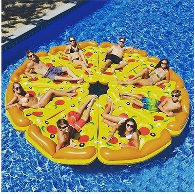 Pizza Slice Inflatable Beach Lounger Fun Float Swimming Pool Air Tubes Water Toy