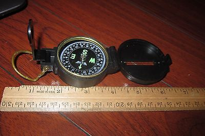 Vintage Engineer's Lensatic Compass Made In Japan Excellent Look!