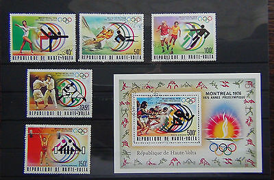Upper Volta 1976 Montreal Olympic Games set and Miniature sheet VFU