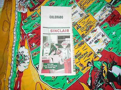 Vintage SINCLAIR Oil Gas Service Station Road Map COLORADO