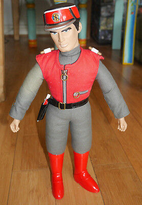 "Captain Scarlet 15"" Talking Action Figure Soft Doll Carlton 2001   (347)"