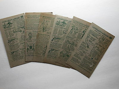 NABISCO STRIGHT ARROW CARDS, lot of 6, Book 4, 1952