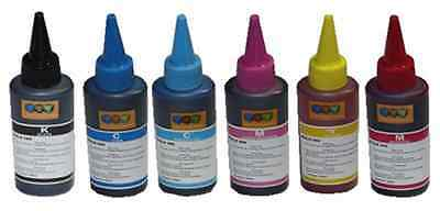6 Compatible Bottled Refill Ink Epson HP Kodak Brother Canon 100ml CISS System