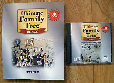 Ultimate Family Tree Deluxe CD Rom Software PC and Book Genealogy Ancestor