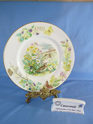 Caverswall Country Diary Edwardian Lady April Cabinet Plate