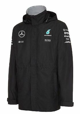 Mercedes AMG Petronas F1 Official Mens Team Rain Jacket - 2016 - Size XXL