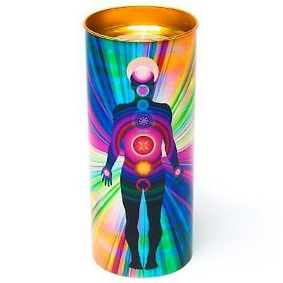 Chakra Stained Glass Effect Candle - 7 Chakras of the Body NEW Holistic Meditate