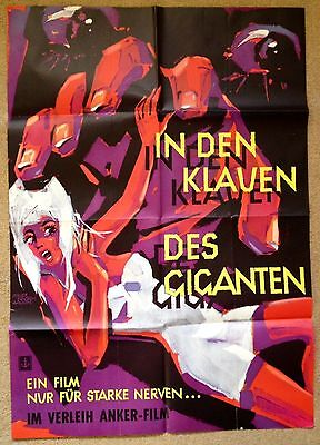 GIANT FROM THE UNKNOWN (1958) Rare Original German Horror Movie Poster
