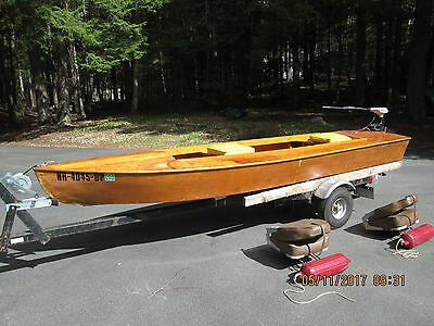 Hand made 14 foot wooden boat