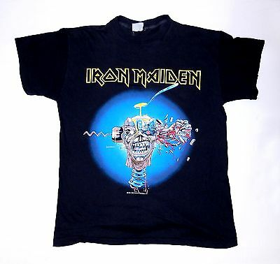 Vintage Original Iron Maiden Can I play with Madness Shirt 1988