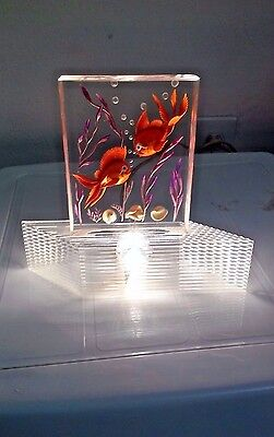 Acrylic/Lucite Fish tank night light Mid Century Modern