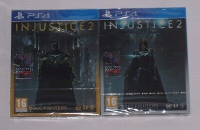 Injustice 2 Deluxe + Ultimate Edition Steelbook PS4 - New Sealed PAL Limited UK