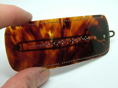 Antique Rare Georgian Faux Tortoiseshell & Gold Pique Inlay Hair Slide Piece